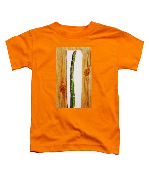 Asparagus Tasty Botanical Study Toddler T-Shirt by Irina Sztukowski