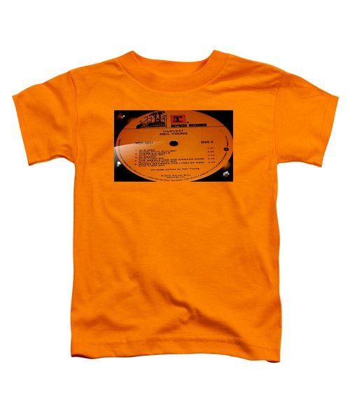 Harvest Neil Young Side 2 Toddler T-Shirt by Marcello Cicchini