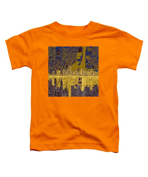 Miami Skyline Abstract 3 Toddler T-Shirt by Bekim Art