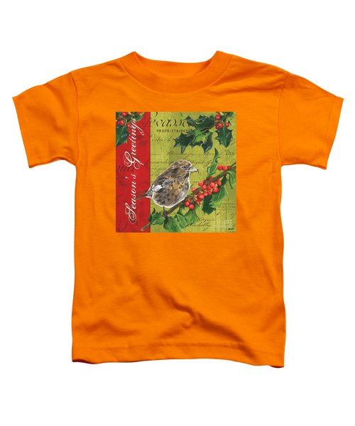 Peace On Earth 1 Toddler T-Shirt by Debbie DeWitt
