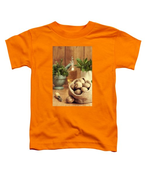 Potatoes Toddler T-Shirt by Amanda Elwell