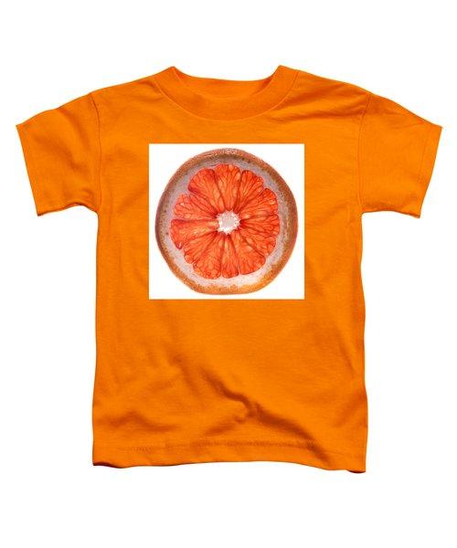 Red Grapefruit Toddler T-Shirt by Steve Gadomski