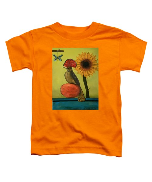 Royal Flycatcher  Toddler T-Shirt by Leah Saulnier The Painting Maniac