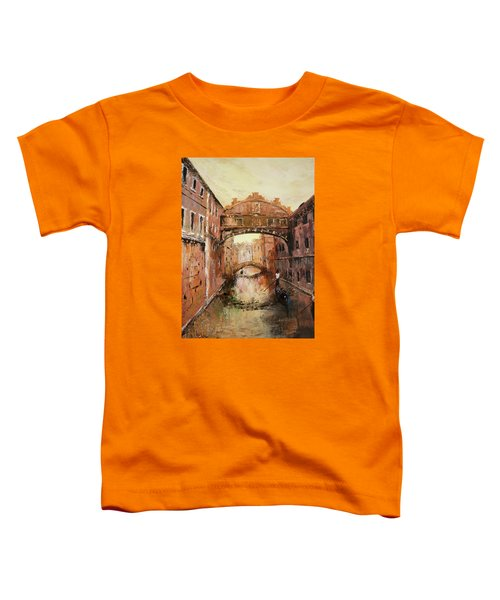 The Bridge Of Sighs Venice Italy Toddler T-Shirt by Jean Walker