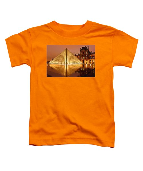 The Louvre By Night Toddler T-Shirt by Ayse Deniz