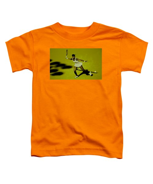 Venus Williams In Action Toddler T-Shirt by Brian Reaves