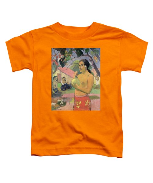 Woman With Mango Toddler T-Shirt by Paul Gauguin