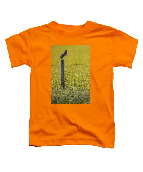 Meadowlark Singing Toddler T-Shirt by Randall Nyhof