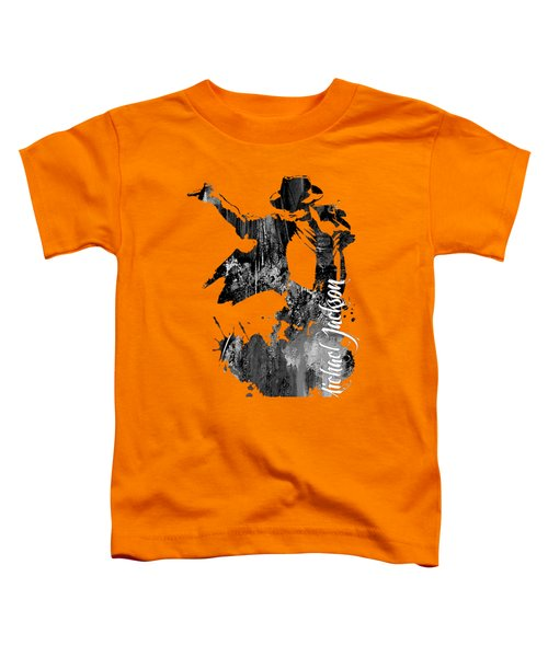 Michael Jackson Collection Toddler T-Shirt by Marvin Blaine