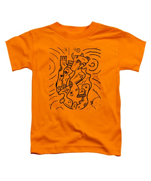 Psychedelic Animals Toddler T-Shirt by Erki Schotter