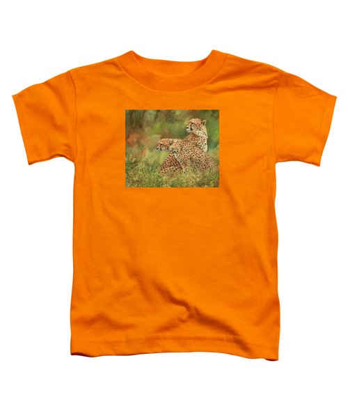 Cheetahs Toddler T-Shirt by David Stribbling