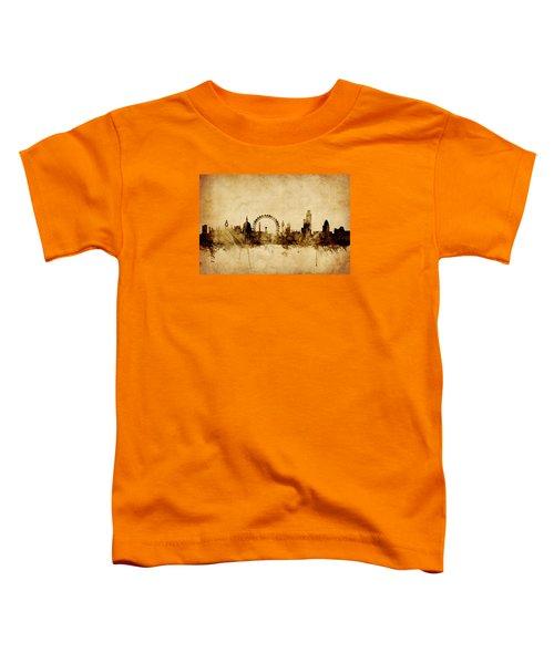 London England Skyline Toddler T-Shirt by Michael Tompsett