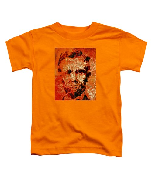 Abraham Lincoln 4d Toddler T-Shirt by Brian Reaves