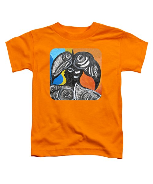 Two Toucans Toddler T-Shirt by Ethna Gillespie