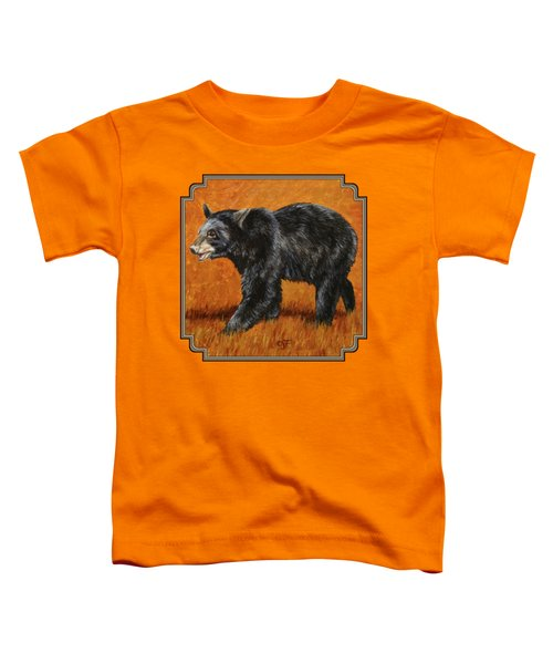 Autumn Black Bear Toddler T-Shirt by Crista Forest