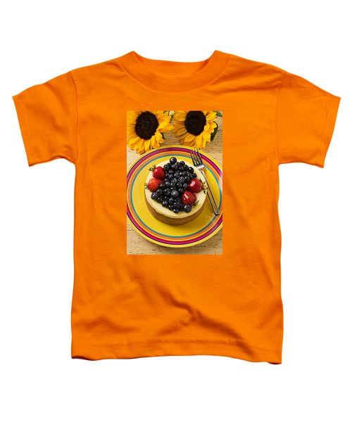 Cheesecake With Fruit Toddler T-Shirt by Garry Gay
