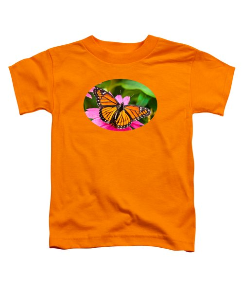 Colorful Butterflies - Orange Viceroy Butterfly Toddler T-Shirt by Christina Rollo