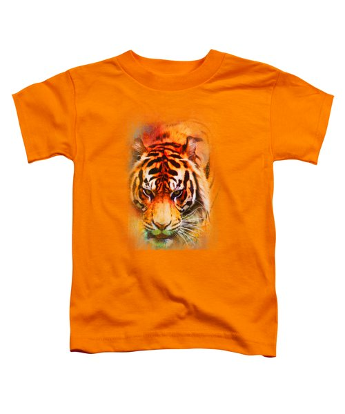 Colorful Expressions Tiger Toddler T-Shirt by Jai Johnson