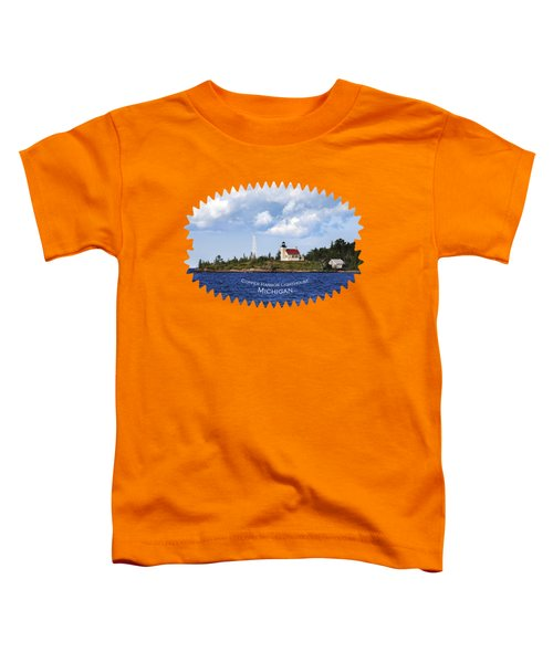 Copper Harbor Lighthouse Toddler T-Shirt by Christina Rollo