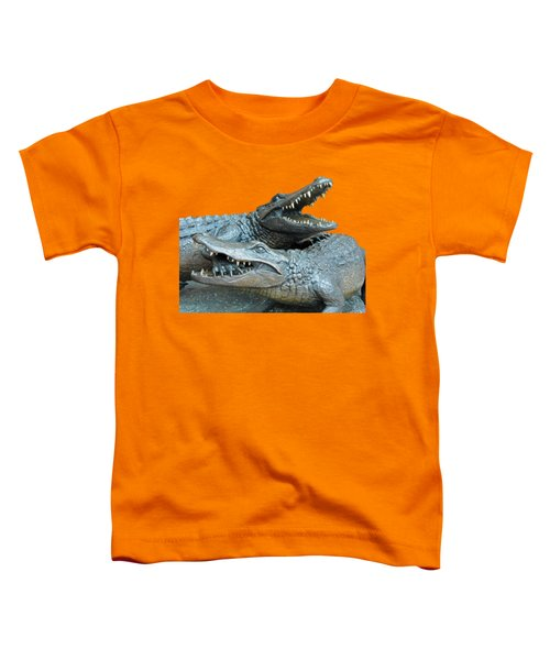 Dueling Gators Transparent For Customization Toddler T-Shirt by D Hackett