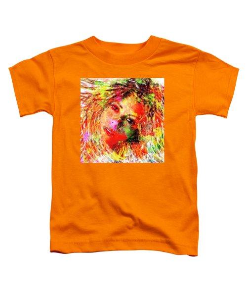 Flowery Shakira Toddler T-Shirt by Navo Art