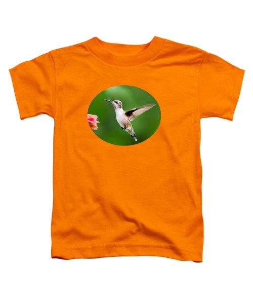 Free As A Bird Hummingbird Toddler T-Shirt by Christina Rollo