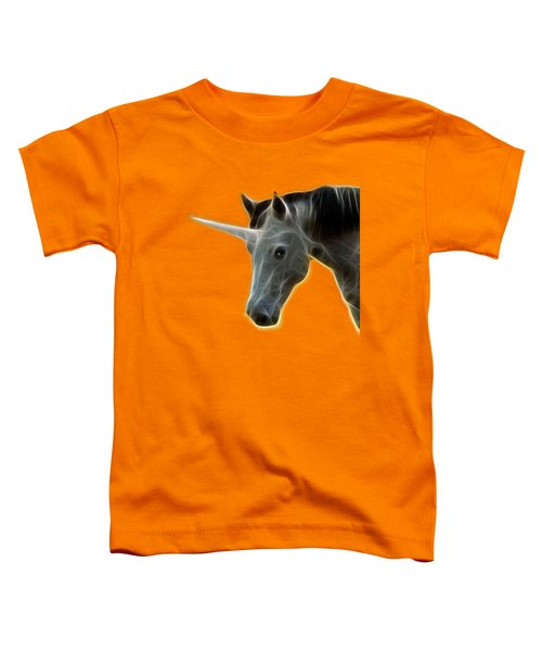 Glowing Unicorn Toddler T-Shirt by Shane Bechler
