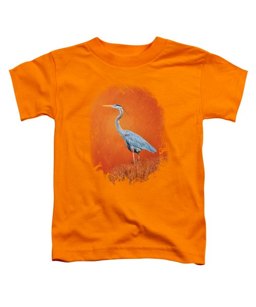 Great Blue Abstract 2 Toddler T-Shirt by John M Bailey
