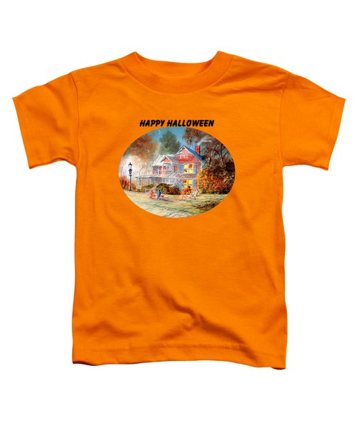 Happy Halloween Toddler T-Shirt by Bill Holkham