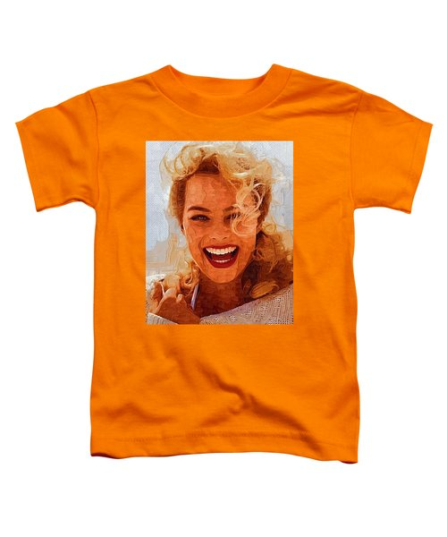 Hollywood Star Margot Robbie Toddler T-Shirt by Best Actors