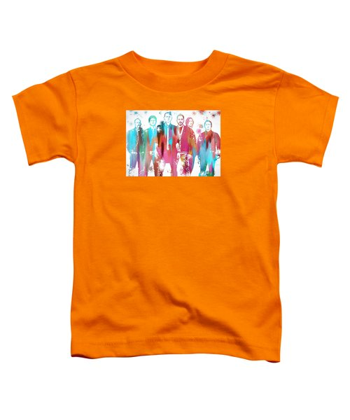 Linkin Park Watercolor Paint Splatter Toddler T-Shirt by Dan Sproul