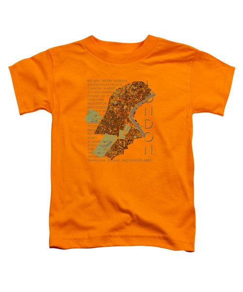 London Classic Map Toddler T-Shirt by Jasone Ayerbe- Javier R Recco