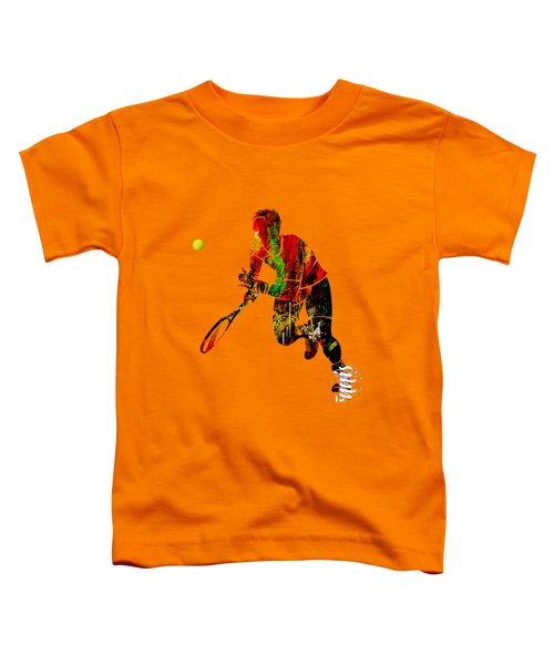 Mens Tennis Collection Toddler T-Shirt by Marvin Blaine