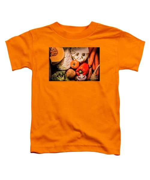 Mixed Vegetable Produce Pack Toddler T-Shirt by Jorgo Photography - Wall Art Gallery
