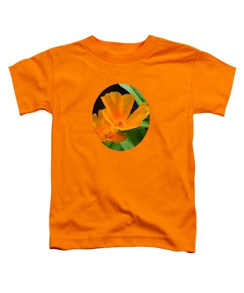 Orange California Poppies Toddler T-Shirt by Christina Rollo