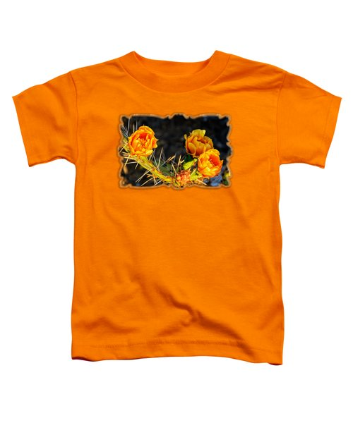 Prickly Pear Flowers Op49 Toddler T-Shirt by Mark Myhaver