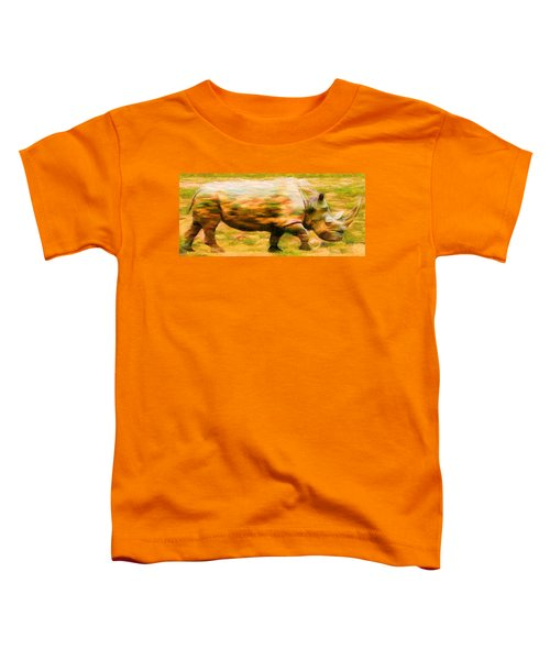 Rhinocerace Toddler T-Shirt by Caito Junqueira