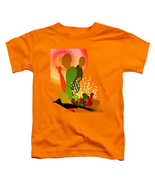 Roadrunner Sunrise Toddler T-Shirt by Methune Hively
