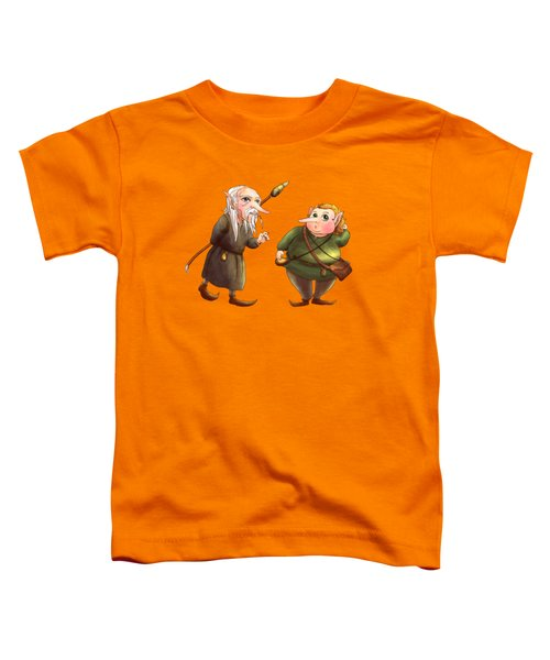 Rupert And Shuman Toddler T-Shirt by Reynold Jay
