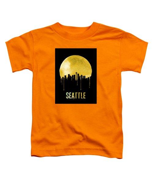 Seattle Skyline Yellow Toddler T-Shirt by Naxart Studio
