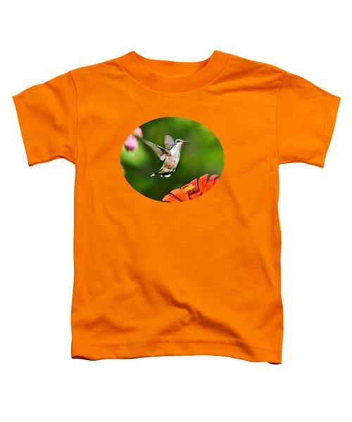 Shimmering Breeze Hummingbird Toddler T-Shirt by Christina Rollo