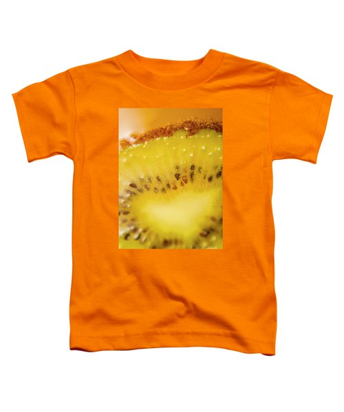Sliced Kiwi Fruit Floating In Carbonated Beverage Toddler T-Shirt by Jorgo Photography - Wall Art Gallery