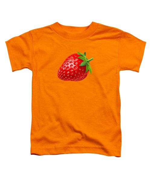 Strawberry Toddler T-Shirt by T Shirts R Us -