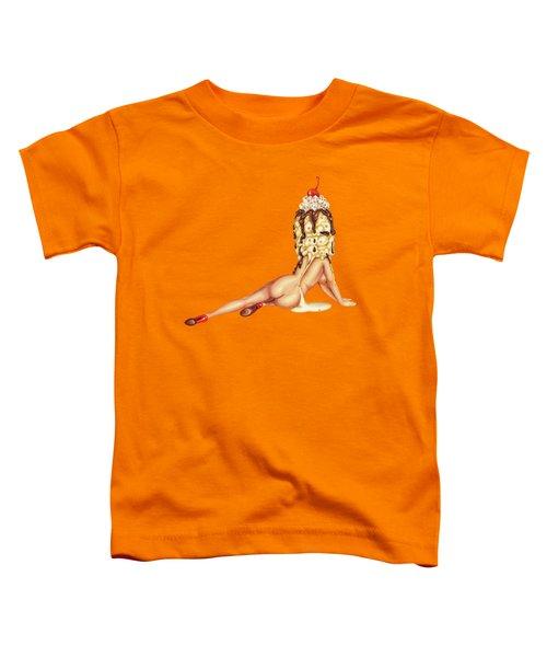 Sundae Best Toddler T-Shirt by Kelly Gilleran