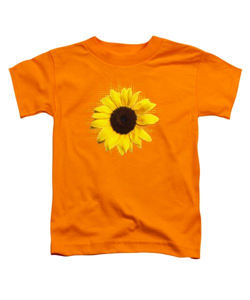 Sunflower Sunburst Toddler T-Shirt by Gill Billington
