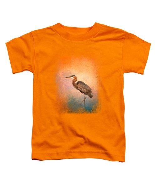 Sunset Heron Toddler T-Shirt by Jai Johnson