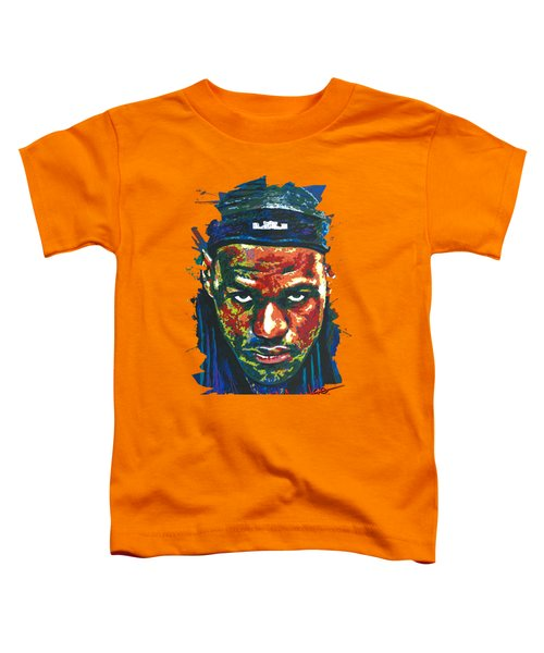 The Lebron Death Stare Toddler T-Shirt by Maria Arango