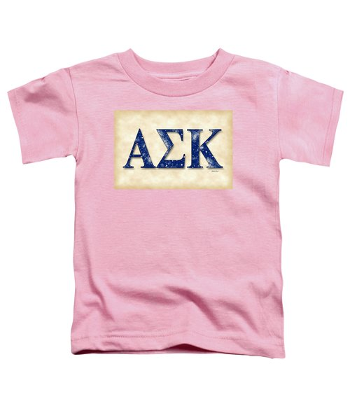 Alpha Sigma Kappa - Parchment Toddler T-Shirt by Stephen Younts