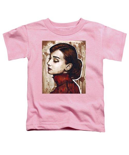 Audrey Hepburn Toddler T-Shirt by Olga Shvartsur