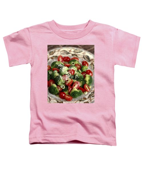 Broccoli And Tomato Salad Toddler T-Shirt by Iris Richardson
